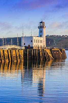 Photograph - Sunset Over Scarborough Lighthouse by Susan Leonard