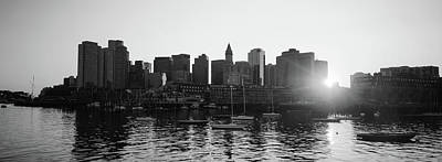 Photograph - Sunset Over Skyscrapers, Boston by Panoramic Images