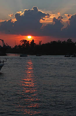 Photograph - Sunset Over The Cape Fear II by Suzanne Gaff