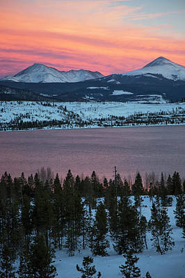 Sunset Over The Dillon Reservoir Art Print