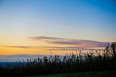 Sunset Over The Field Art Print