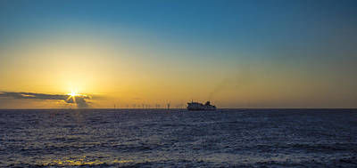 Sunset Over The Irish Sea Art Print by Paul Madden