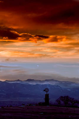 Art Print featuring the photograph Sunset Over The Rockies by Kristal Kraft