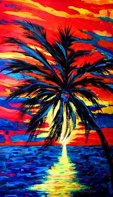 Valentines Day - Sunset Palm by Jamie Frier