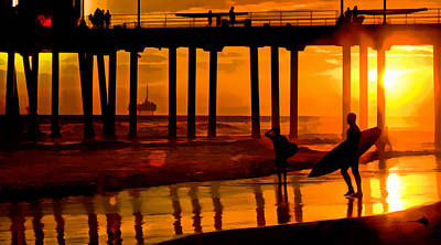 Photograph - Sunset Pier by Robert Roland