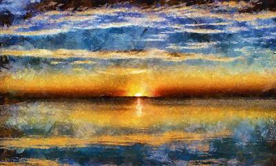 Sunset Reflections Art Print by Dan Sproul