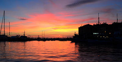Sunset Rovinj Art Print