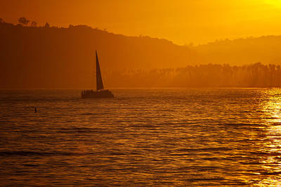 Photograph - Sunset Sail by Joan Herwig