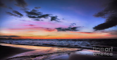 Sunset Seascape Art Print by Adrian Evans