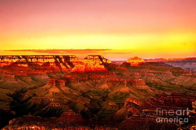 Photograph - Sunset Yaki Point Grand Canyon by Bob and Nadine Johnston