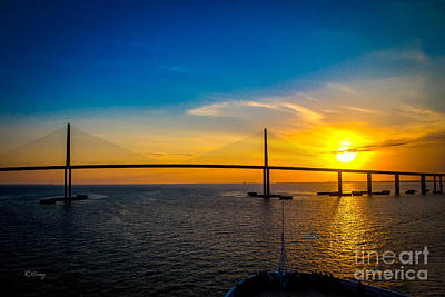Photograph - Sunshine Skyway Bridge  by Rene Triay Photography