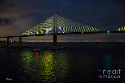 Sunshine Skyway Bridge Tampa Florida Art Print