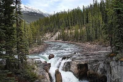 Photograph - Canada's Sunwapta Falls by Dyle   Warren