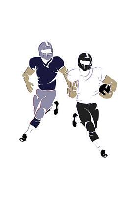 Super Bowl 49 Patriots Vs Seahawks Art Print