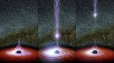 Accreting Photograph - Supermassive Black Hole Corona by Nasa/jpl-caltech
