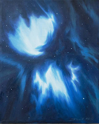 Black Hole Painting - Supernova Explosion by James Christopher Hill