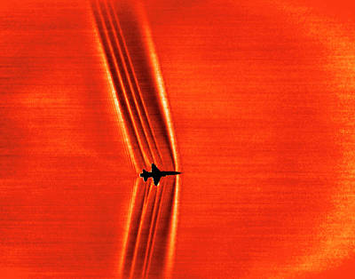 Shockwave Photograph - Supersonic Shock Waves by Nasa