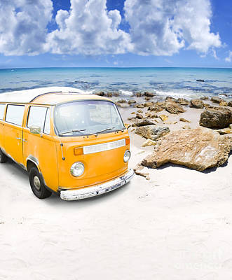 Directional Signage Photograph - Surf Van by Jorgo Photography - Wall Art Gallery