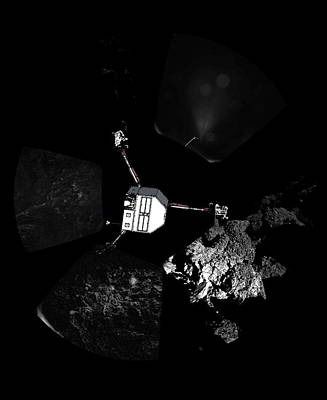 Surface Of Comet 67pc-g, Panoramic View Art Print