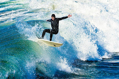 Photograph - Surfing In Oceanside by Ben Graham