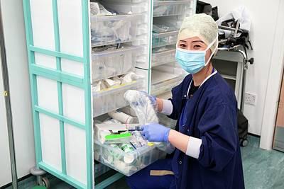 Surgery Preparations Art Print by Mark Thomas