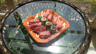 Japanese Ceramics Ceramic Art - Sushi Food Ceramics by Harrison Love