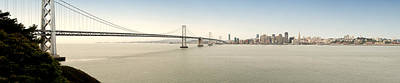 Suspension Bridge Across A Bay, Bay Art Print by Panoramic Images