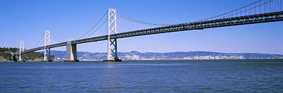Bay Bridge Photograph - Suspension Bridge Across The Bay, Bay by Panoramic Images