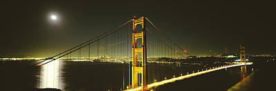 Golden Gate Photograph - Suspension Bridge Across The Sea by Panoramic Images