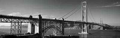 Suspension Bridge At Dusk, Golden Gate Art Print