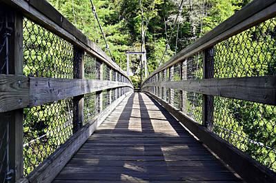 Suspension Bridge Art Print by Susan Leggett