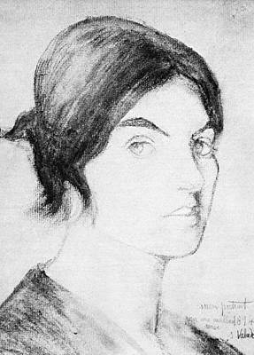 Self-portrait Drawing - Suzanne Valadon (1865-1938) by Granger