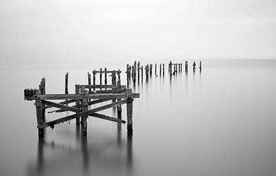 Swanage Pier Photograph - Swanage Old Pier Long Exposure Landscape by Matthew Gibson
