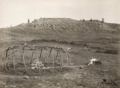 Sweat Lodge, C1910 Art Print by Granger