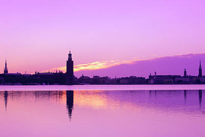 Sweden - Stockholm Skyline At Dawn Art Print by Panoramic Images