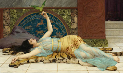 Sweet Doing Nothing. Dolce Far Niente Art Print by John William Godward