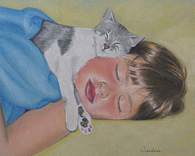 Drawing - Sweet Dreams by Kathy Weidner
