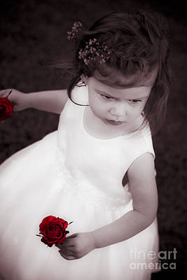 Sweet Little Rose Girl Art Print by Jorgo Photography - Wall Art Gallery