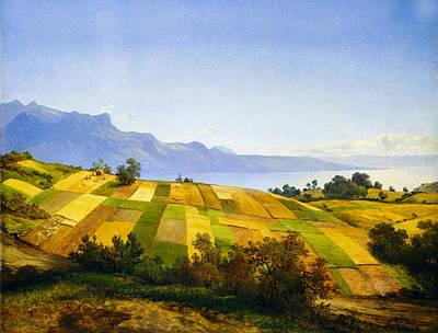Field. Cloud Digital Art - Swiss Landscape by Alexandre Calame