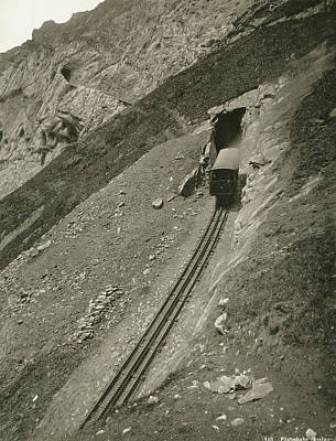 Switzerland Painting - Switzerland Railroad by Granger