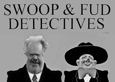 Sculpture - Swoop And Fud - Detectives by David Wiles