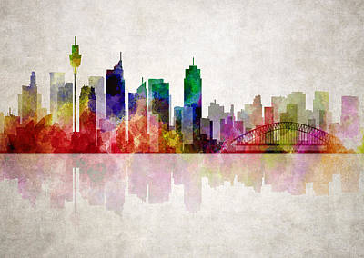 Koala Digital Art - Sydney Australia Skyline by Daniel Hagerman
