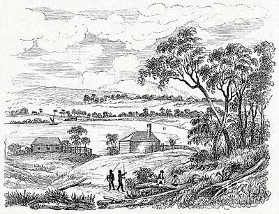 Hunters And Gatherers Photograph - Sydney Cove, Australia, Circa 1790 by CCI Archives