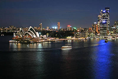 Sydney Skyline Photograph - Sydney Harbor At Circular Quay by Ellen Henneke