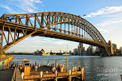 Photograph - Sydney Harbour Bridge Arching Gracefully Over Sydney Harbour by David Hill