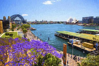 Vintage Performace Cars - Sydney Harbour jacaranda by Sheila Smart Fine Art Photography