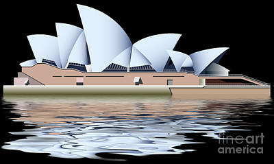 Tourist Attraction Digital Art - Sydney Opera House by Michal Boubin