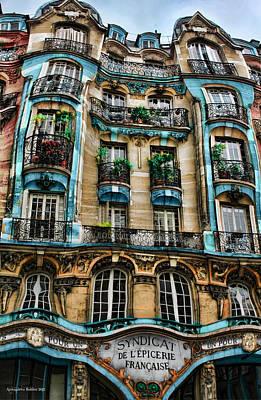 Syndicat De L'epicerie Building Art Print by Aleksander Rotner