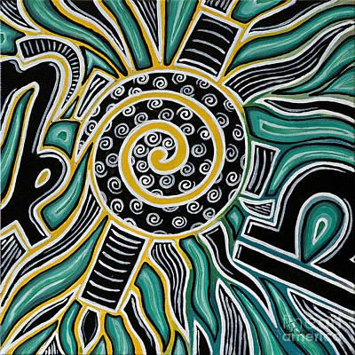 Unity Painting - Synergy B by Janis  Cornish