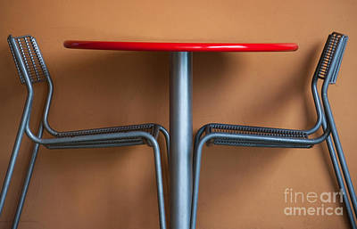 Red Abstract Photograph - Table And Chairs by Dan Holm